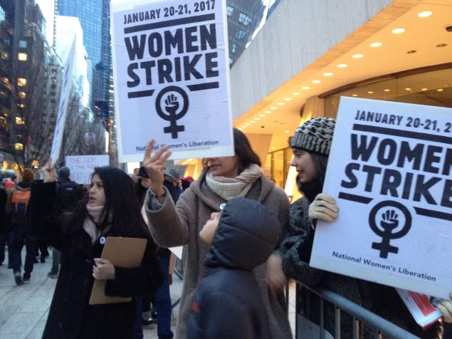 The National Women's Liberation received pledges from 5,000 women nationwide to strike from paid and unpaid work from January 20 to 21.