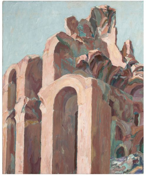 Philip Pearlstein's Roman Ruin (1961).