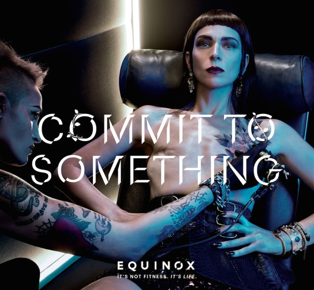 Samantha Paige shows her mastectomy scars in this Equinox campaign.