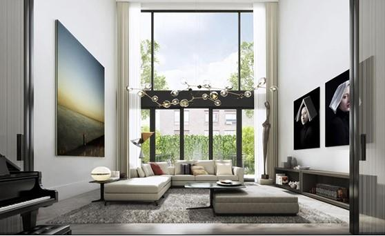 A rendering of the townhouse Billy Bush sold.