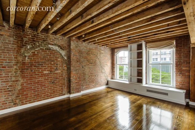 Lots of exposed brick.