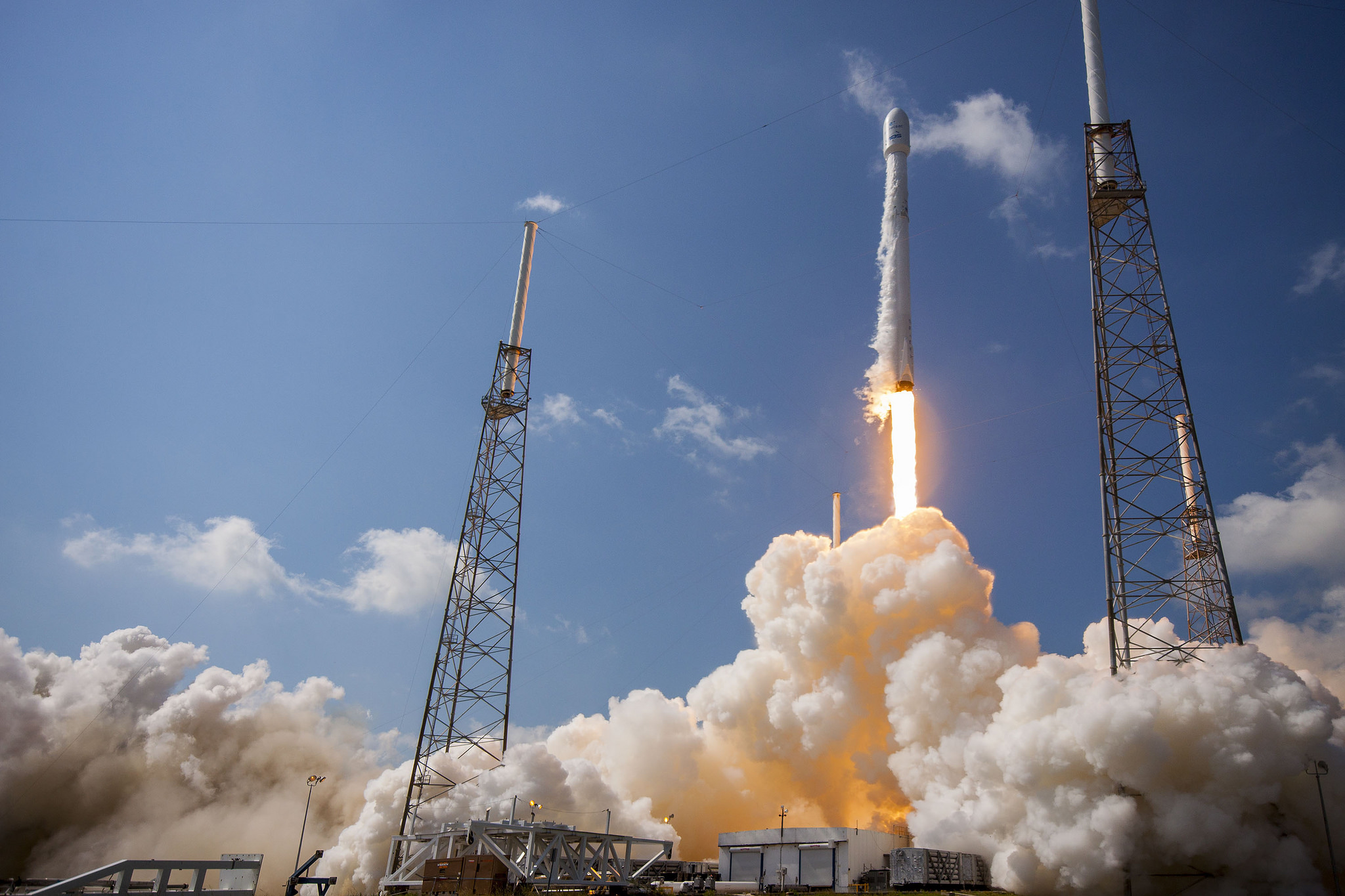 A SpaceX Falcon 9 launches from Cape Canaveral.