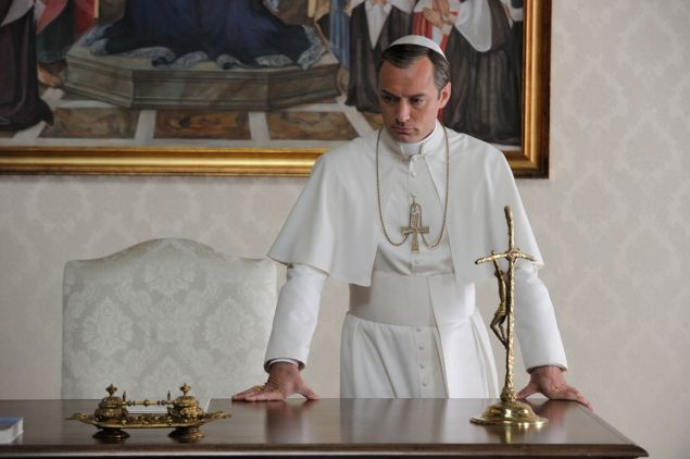 Jude Law in The Young Pope.