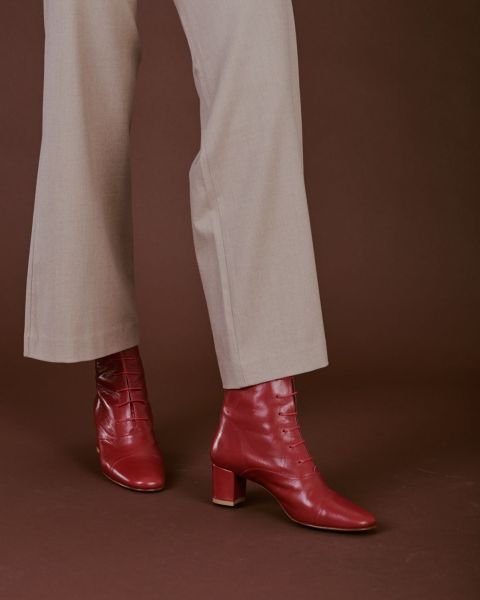 BY FAR Lada Leather Red, $362, Byfarshoes.com
