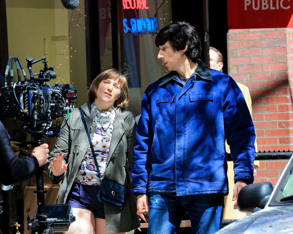 Lena Dunham and Adam Driver for 'Girls' in New York City.  (Photo by Alessio Botticelli/GC Images)