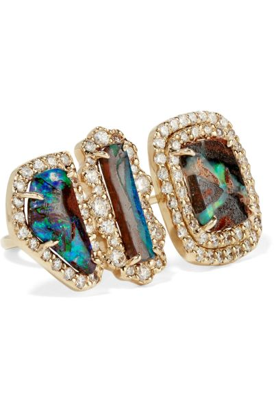 An opal and diamond ring from Kimberly McDonald.