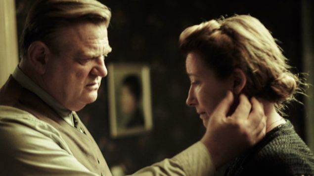 Brendan Gleeson and Emma Roberts in Alone in Berlin.