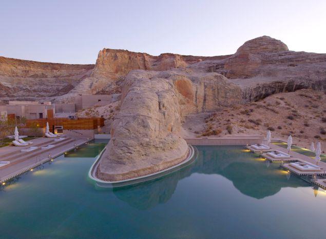 Amangiri Swimming Pool Dusk