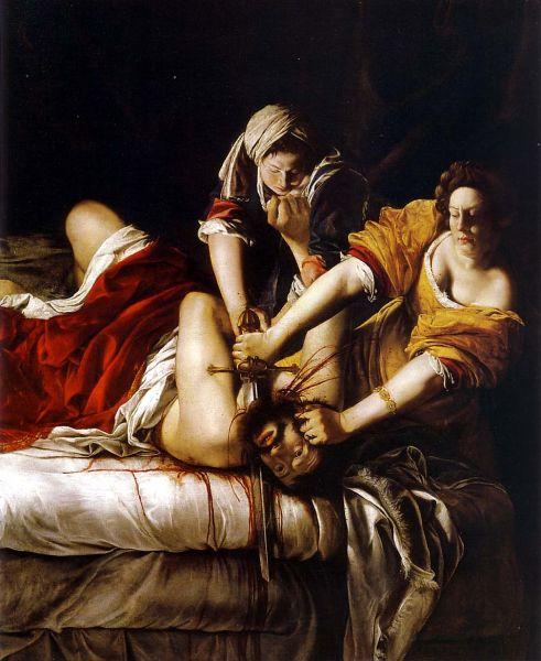 Judith Slaying Holofernes, Artemisia Gentileschi.