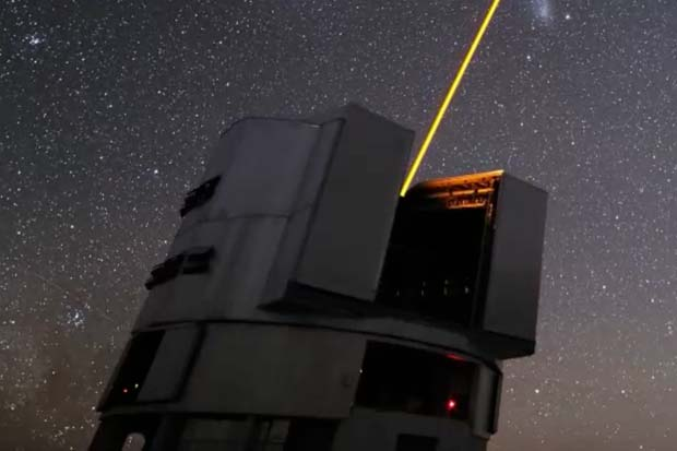 The European Southern Observatory's Very Large Telescope in action.