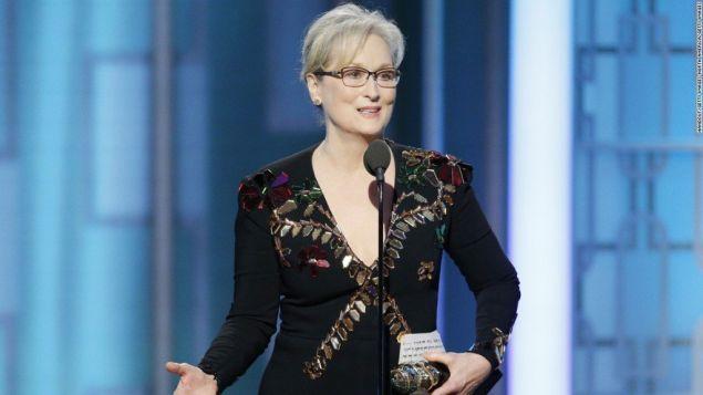Meryl Streep at last night's Golden Globe Awards.