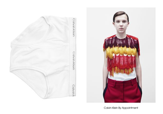 Millie Bobby Brown in Calvin Klein By Appointment.