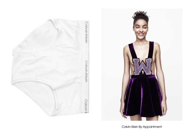 A purple velvet look from Calvin Klein By Appointment.