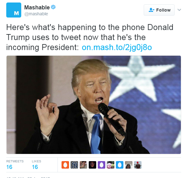 Tweet from @Mashable.