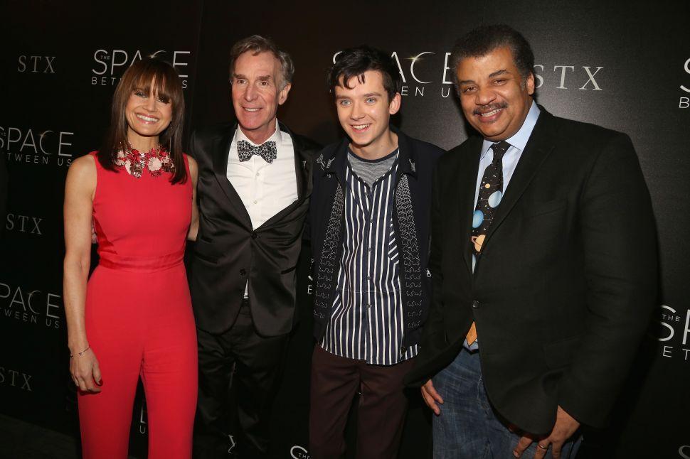 Carla Gugino, Bill Nye, Asa Butterfield, Neil deGrasse Tyson.