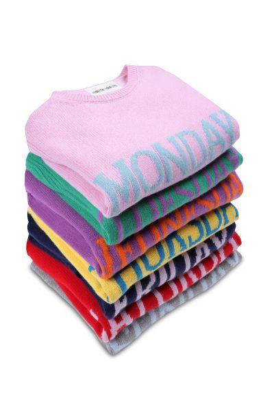 Alberta Ferretti's Rainbow Week sweaters.
