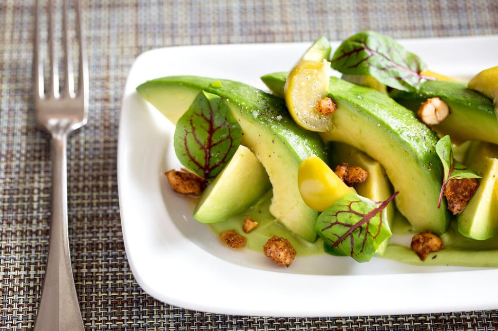 Craft's avocado salad with tomatillo and spiced peanuts is a crowdpleaser at both lunch and dinner.