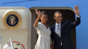 Barack Obama and Michelle Obama are off to Necker Island.