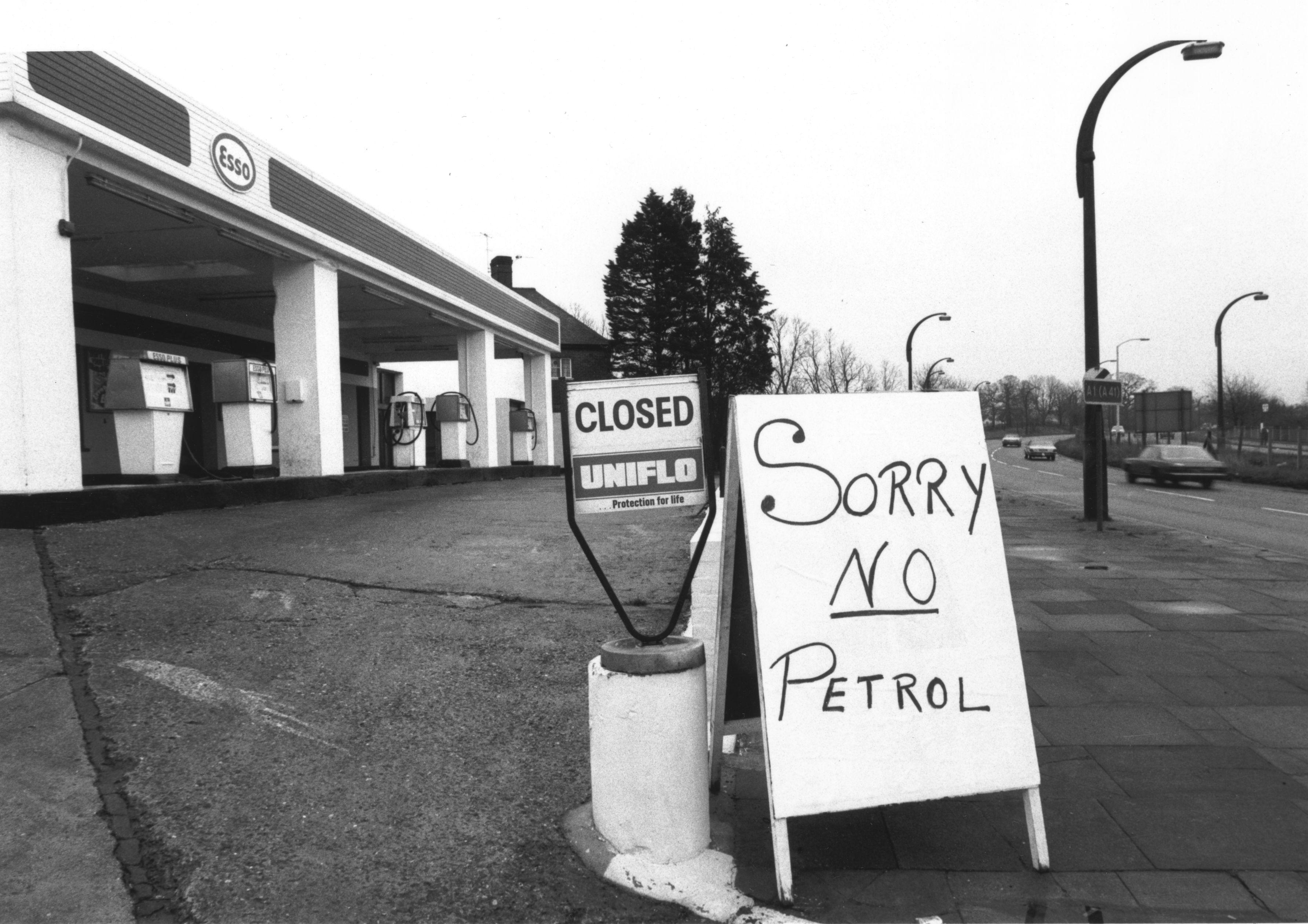 Gas shortage.