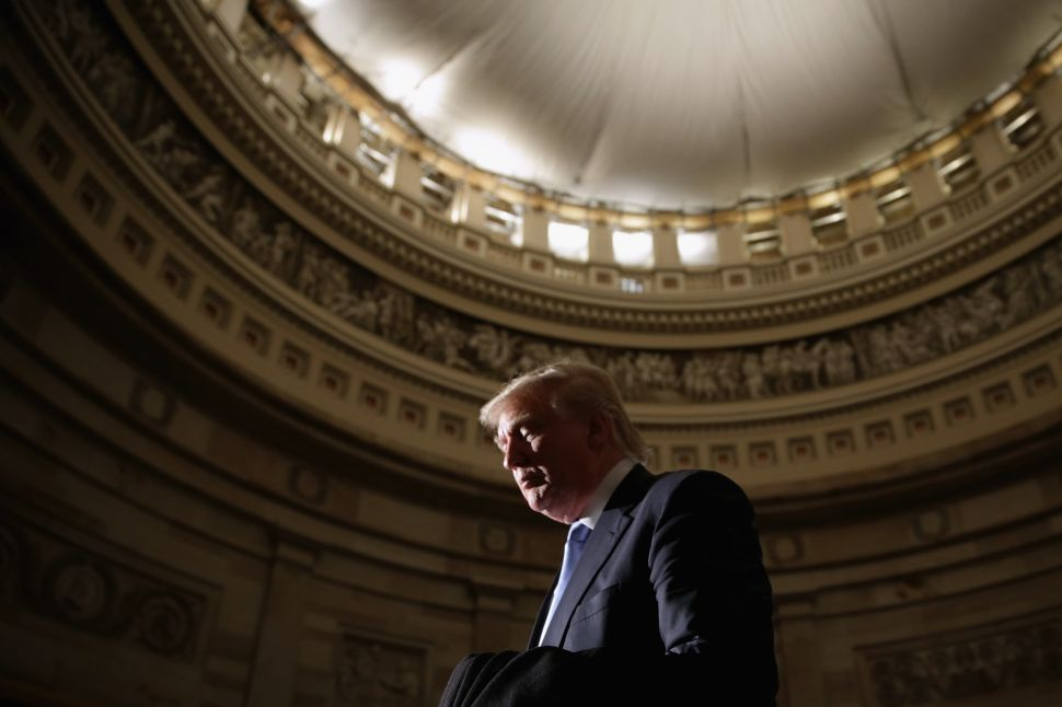 WASHINGTON, DC President-elect Donald Trump in the U.S. Capitol Rotunda.