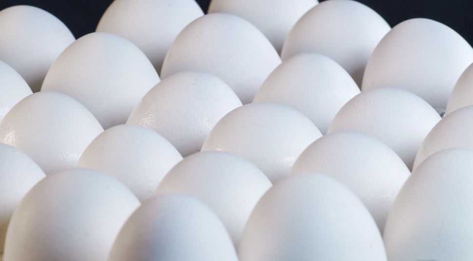 There is no evidence to suggest that the cholesterol in eggs relates to blood cholesterol levels, but we are still advised to only eat up to two a day.