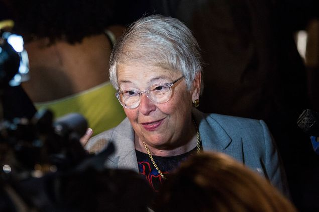 NEW YORK, NY - SEPTEMBER 16: Carmen Farina, Chancellor of New York City Department of Education, speaks to members of the media after attending New York City Mayor Bill de Blasio's speech outlining his vision for New York City schools at Bronx Latin School on September 16, 2015 in the Bronx borough of New York City. Amongst other new iniatives, de Blasio said the department of education aims to begin teaching computer science in all New York City schools. (Photo by Andrew Burton/Getty Images)