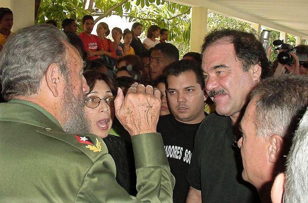 Fidel Castro and Oliver Stone.