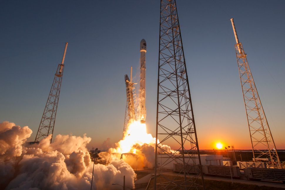 SpaceX's Falcon 9 rocket lifts off from Launch Complex 40 carrying the Deep Space Climate Observatory (DSCOVR) satellite in Cape Canaveral, Florida.