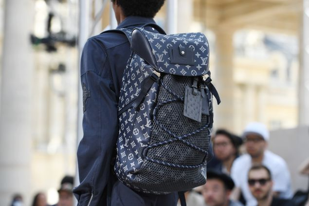 A Louis Vuitton backpack.