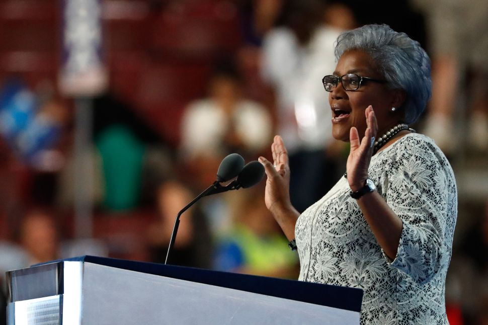 Interim chair of the Democratic National Committee, Donna Brazile