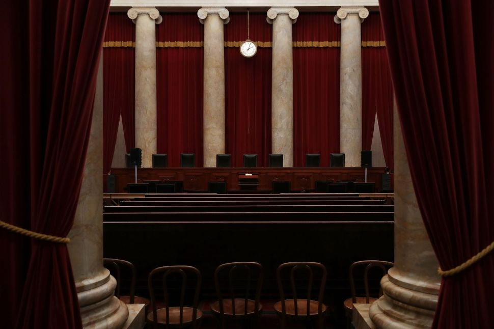 The courtroom of the U.S. Supreme Court