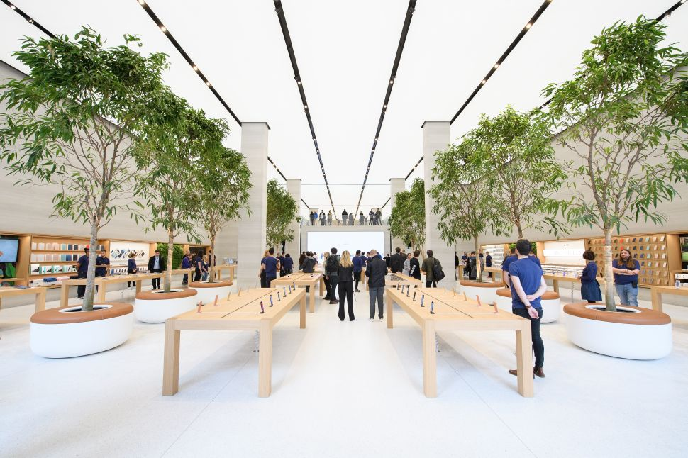The Apple store on Regent Street in London, England. Apple's retail stores sell Sonos' wireless multi-room speaker.