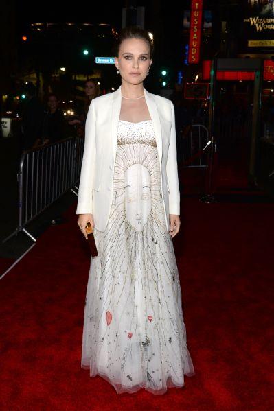 Natalie Portman in Dior at AFI Fest.