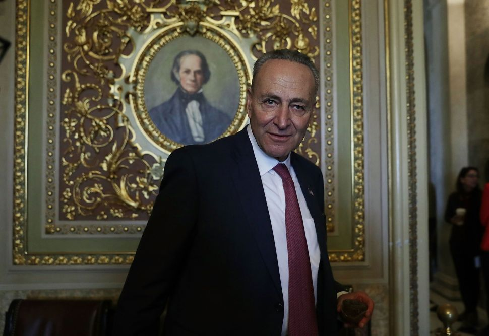 U.S. Sen. Charles Schumer on November 16, 2016 after he was elected as the incoming Senate minority leader.