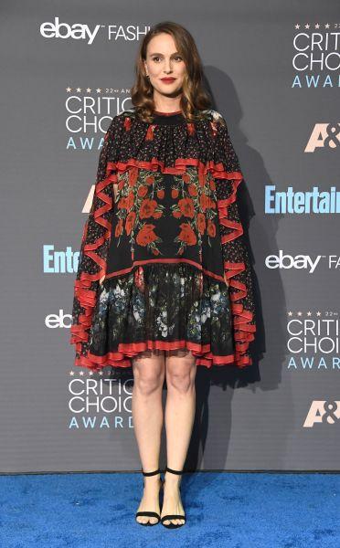 Natalie Portman in Alexander McQueen.