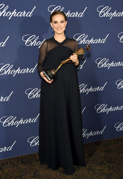 Natalie Portman in Dior at the Palm Springs Film Festival.