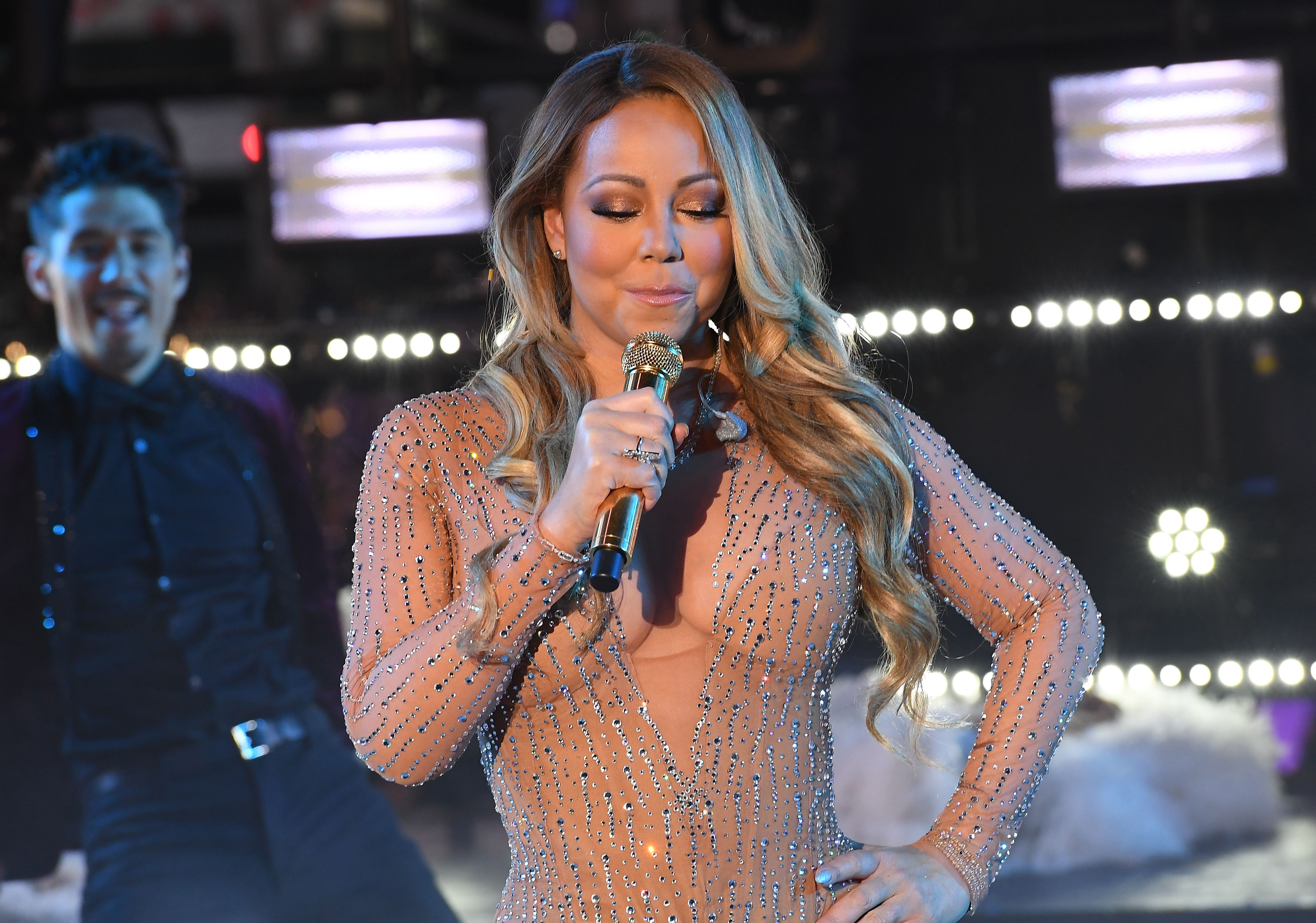 On New Year's Eve, Mariah Carey was at a loss for words.