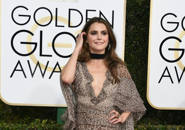 Keri Russell at the 74th annual Golden Globe Awards.