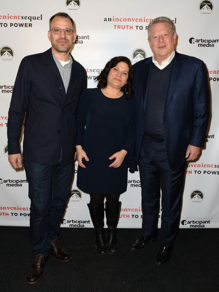 Co-directors Jon Shank and Bonnie Cohen with Former Vice President Al Gore at premiere of An Inconvenient Sequel: Truth to Power.
