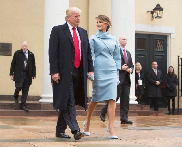 Melania and Donald Trump.