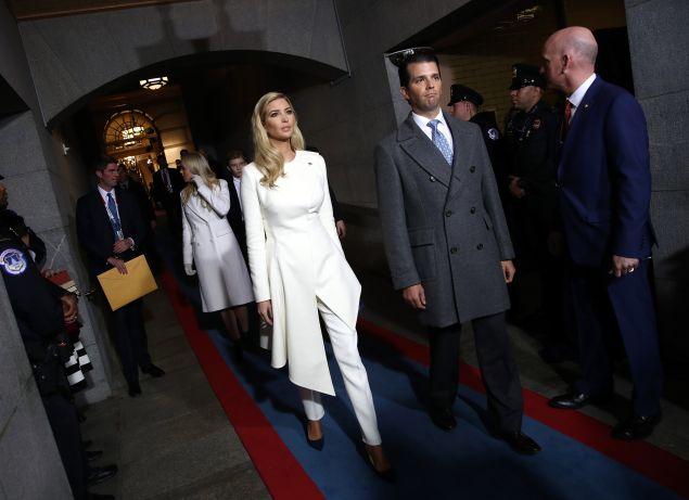 Ivanka Trump in Oscar de la Renta.