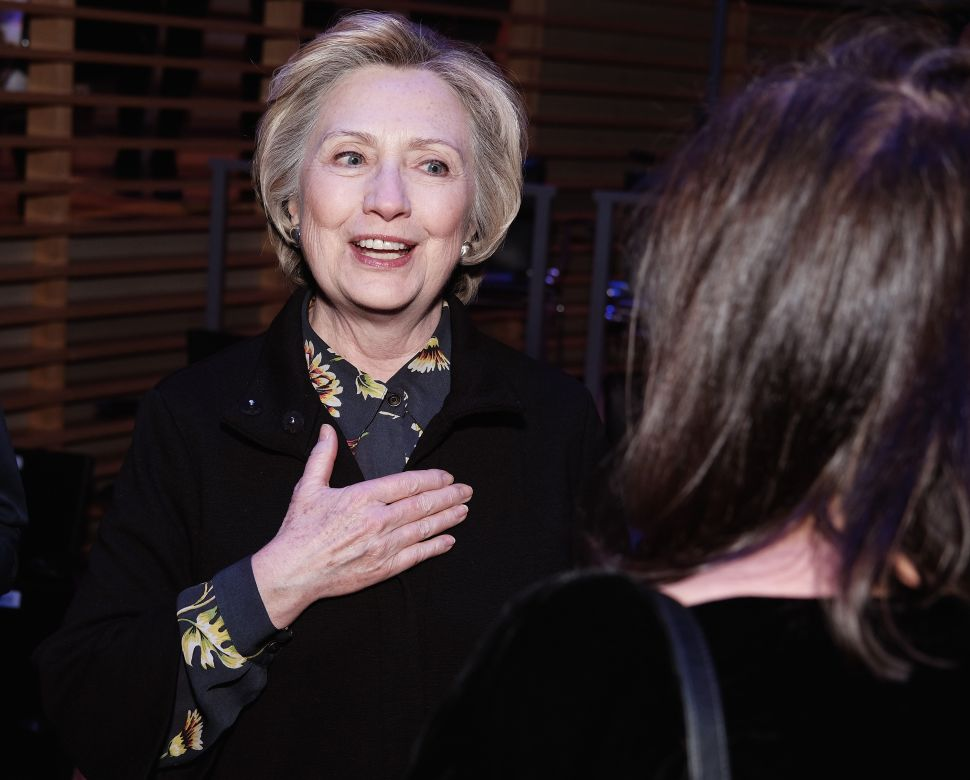 NEW YORK, NY - JANUARY 25: Hilary Clinton attends The Nearness Of You Benefit Concert at Jazz at Lincoln Center on January 25, 2017 in New York City.