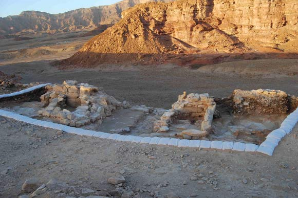 The two-room gatehouse in the Timna Valley, which scientists believe is part of King Solomon's mines.