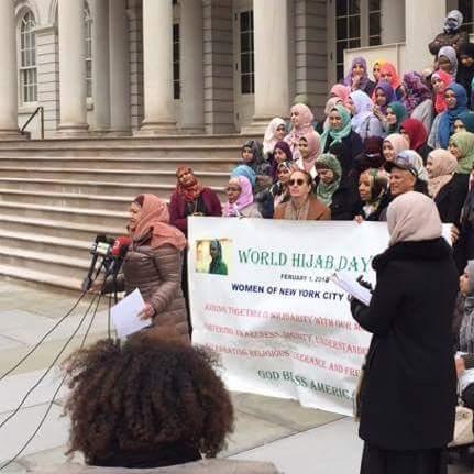 World Hijab Day at City Hall last year.