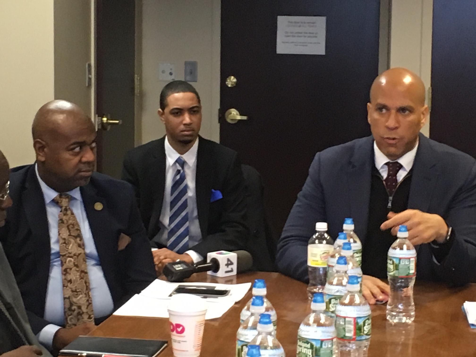 Newark Mayor Ras Baraka (left) and U.S. Senator Cory Booker say they will fight to protect NJ urban communities.