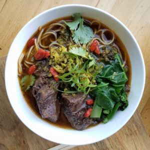 Chef David Kuo's beef noodle soup.