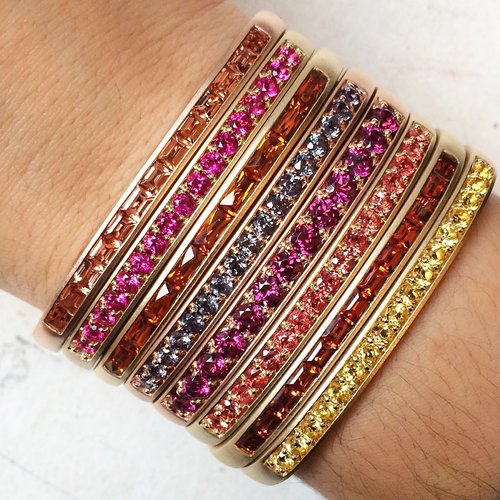 A stack of bangles from Jane Taylor.