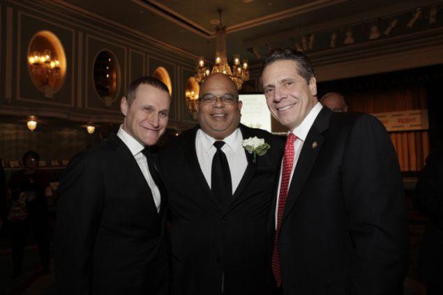 Rob Speyer, John Banks and Gov. Andrew Cuomo.