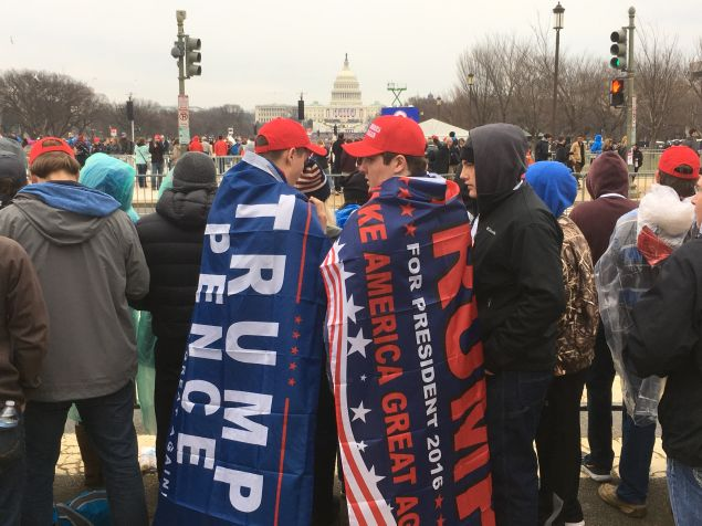 Trump supporters on the National Mall
