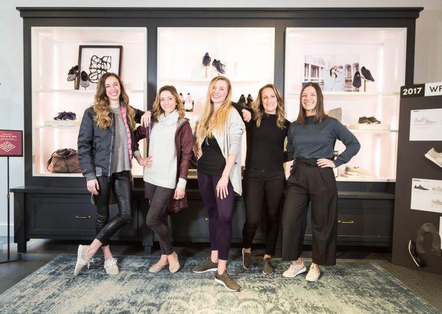 New York City Ballet's Gretchen Smith, Megan Fairchild, Sara Mearns and Cole Haan's Leanne Hanan, Caroline Swierszczyk